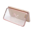 Swan Patterned TPU Crystal Back Case Cover for IPHONE 6/6S - Rose Gold