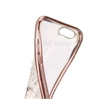 Pearl Patterned TPU Crystal Back Case Cover - Rose Gold