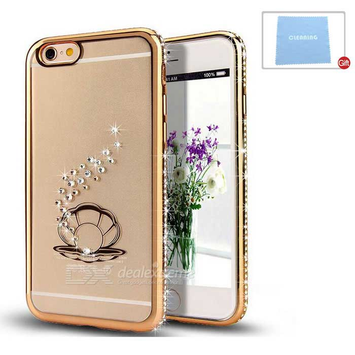 Pearl Patterned TPU Crystal Back Case Cover  for IPHONE 6/6S - Gold