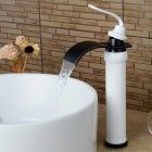 Buy Modern Tall Waterfall Paint Oil-rubbed Bronze Bathroom Sink Faucet