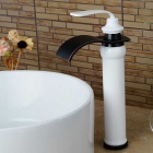 Modern Tall Waterfall Paint Oil-rubbed Bronze Bathroom Sink Faucet