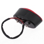 QooK Motorcycle Bike LED Tail Rear Running Light - Dark Red + Black