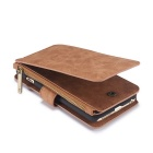 Genuine Leather Detachable Zipper Wallet Case for IPHONE 6 / 6S