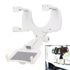 Car Rear-view Mirror Mobile Versatile Holder / Bracket - White