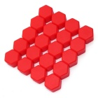ZIQIAO 19mm Car Tyre Screws Cover - Red (20PCS)