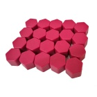 ZIQIAO 19mm Car Tyre Screws Cover - Purplish Red (20PCS)