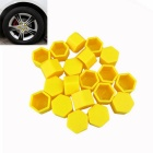 ZIQIAO 19mm Car Tyre Screws Cover - Yellow (20PCS)