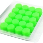 ZIQIAO 19mm Car Tyre Screws Cover - Green (20PCS)