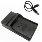 Ismartdigi LPE5 Micro USB Camera Battery Charger for Canon - Black