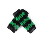 Electric Motorcycle Rider Non-slip Rubber Handlebar Covers - Green