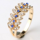 Fashion Exquisite Women's Leaves Shaped Ring - Gold