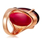Xinguang Women's Red Resin Ring - Gold (US Size 7)