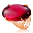 Xinguang Women's Red Resin Ring - Gold (US Size 9)