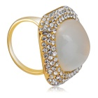 Xinguang Women's Simple Quadrate Finger Ring - Gold (US Size 7)