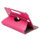 ENKAY 360 Degree Rotation Case w/ Stand for 10 inch Tablet - Deep Pink