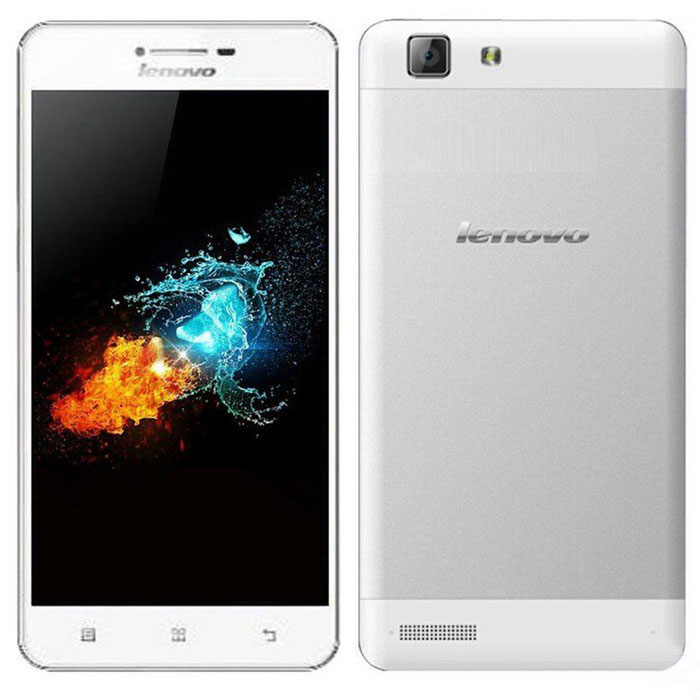 "Lenovo A6600 5"" Quad-Core Android 4G Phone w/1GB RAM, 8GB ROM - Silver"