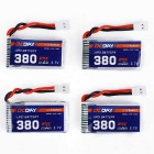 OCDAY 3.7V 380mAh 25C 1S1P 4-Battery + Charger Set for Hubsan H107C