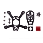 DIY Half Carbon Fiber Mini H150 Quadcopter Frame Kit - Black