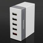 Portable Convenient Traveling 5 USB Ports Fast Charger Adapter