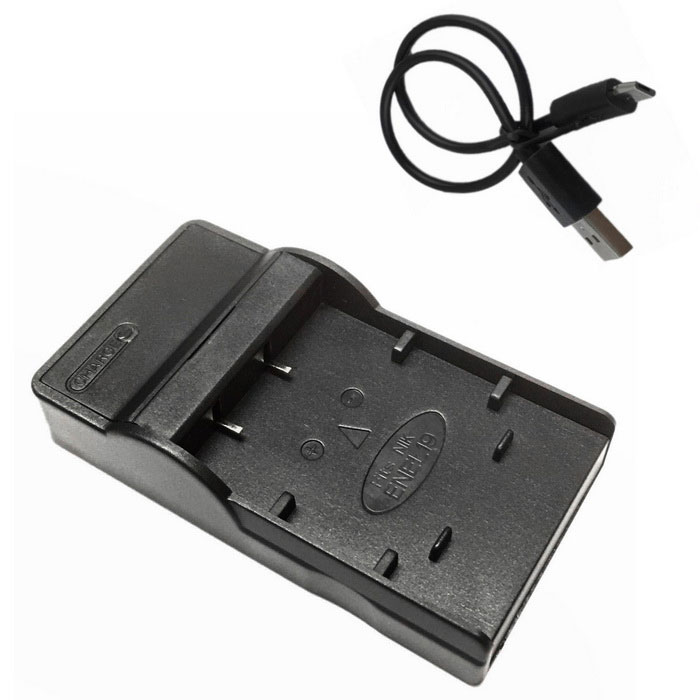 EL19 Micro USB Mobile Camera Battery Charger for Nikon - Black
