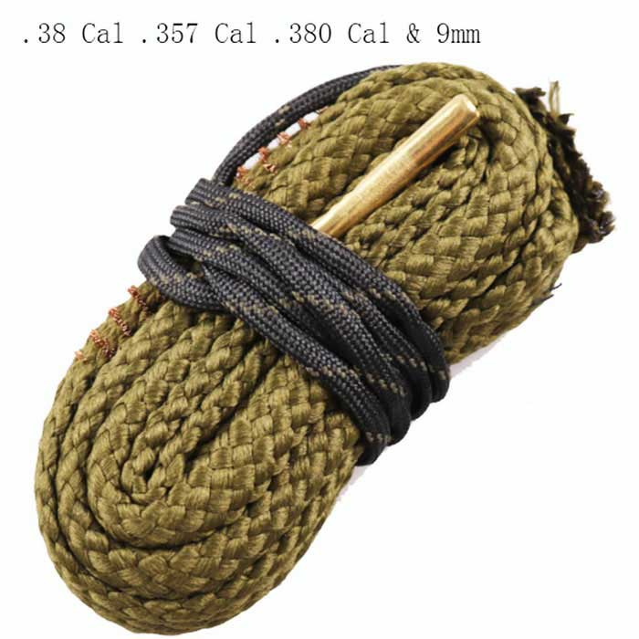 Snake Style Rifle Bore Cleaner for .38 Cal .357 Cal .380 Cal & 9mm