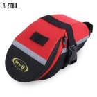 B-SOUL Cycling Mountain Bike Tail Saddle Bag - Red + Black