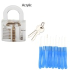 Transparent akryl Fine Locksmith Tool Set - Blå + Transparent