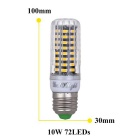 YouOKLight Dimming E27 10W 72-SMD 5733 Cold White LED Corn Bulb