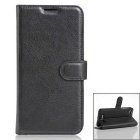 PU Leather Wallet Cases w/ Card Slots for Doogee Y200 - Black