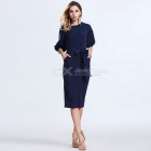 Women's Bodycon Fashion Casual Half-Sleeve Chiffon Dress for Party, Banquet and other Occasion