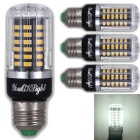 YouOKLight E27 5W 56 SMD-5736 LED Cool White Corn Bulbs (4Pcs)