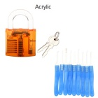 Acrylic Fine Locksmith Tool Set - Translucent Orange + Blue