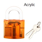 Acrylic Fine Locksmith Tool Set - Genomskinlig Orange + Blå