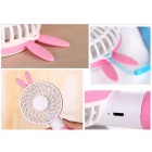 Lovely Rabbit Style Mini Handheld 2-Mode Cooling Fan - Pink
