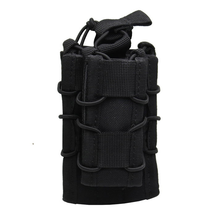 Campo exterior Caça pequena pistola Rifle Cartridge Bag - Black
