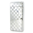 MAIKOU Grid Pattern Double Arc USB Charging Lighter - Silver