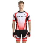 NUCKILY Quick-Drying Men's Cycling Short-Sleeve Jersey + Short Pants