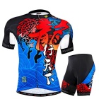 NUCKILY Summer Men's Short Sleeve Shorts Jersey de ciclismo - Azul (XXL)