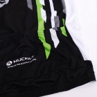 NUCKILY Stripe Pattern Cycling Short-Sleeve Jersey + Short Pants Set