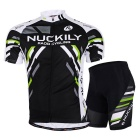 Outdoor Sports Men's Summer Mountain Bike Cycling Quick-drying Polyester Suit - Black (XXXL)