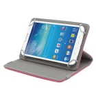 ENKAY Protective PU Leather Case for 7 inch Tablet - Dark Pink