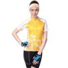 NUCKILY Cycling Short-Sleeve Jersey + Short Pants - Orange (L)
