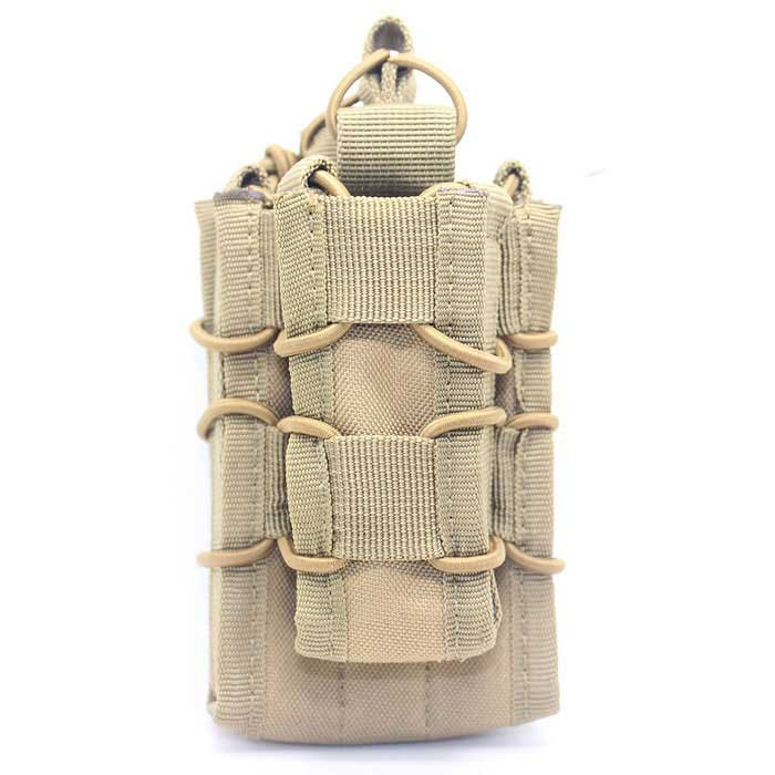 Campo exterior Caça pequena pistola Rifle Cartridge Bag - Mud Cor