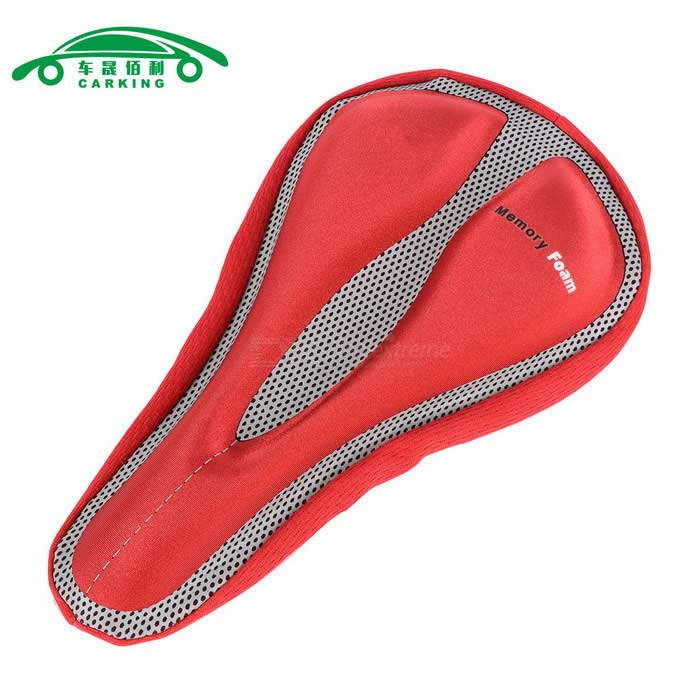 CARKING MTB Bicycle Mountain Road Seat 3D Pad Saddle Cover - Red