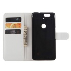 PU Leather Full Body Cases w/ Card Slots for Huawei Nexus 6P - White