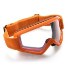 QooK Motorcycle Motocross ATV Helmet Eye Protection Glasses - Orange
