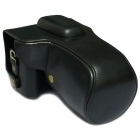 PU Leather Camera Case Bag for Canon 6D - Black