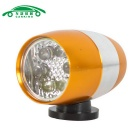 CARKING 6-LED Neutral White Mini Bike Safety Lamp Flashlight - Gold