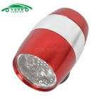 CARKING 6-LED Neutral White Mini Bike Safety Lamp Flashlight - Red