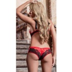 Europe Style Sexy Lace One-Piece Lingerie Underwear - Red + Black
